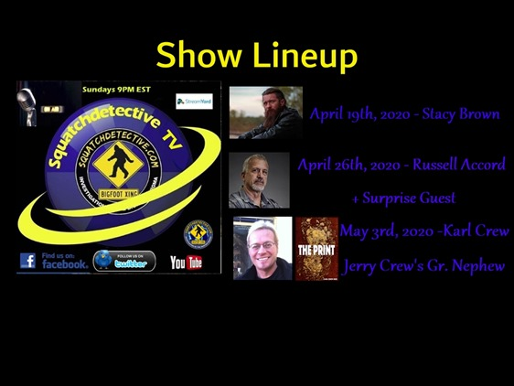 Show Lineup Apr-May